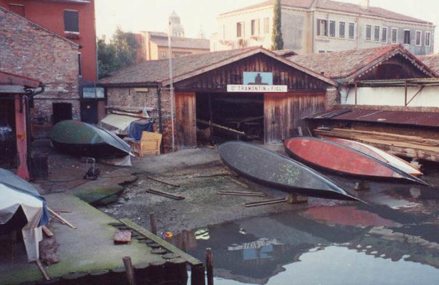 Squero Venezia anni settanta