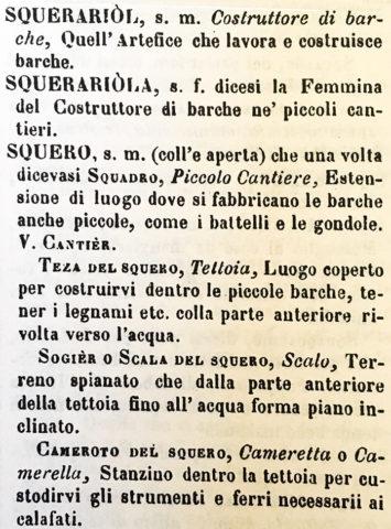 Squero Venezia - dialetto veneziano